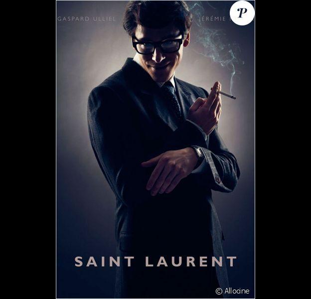 Affiche teaser du biopic Saint-Laurent.