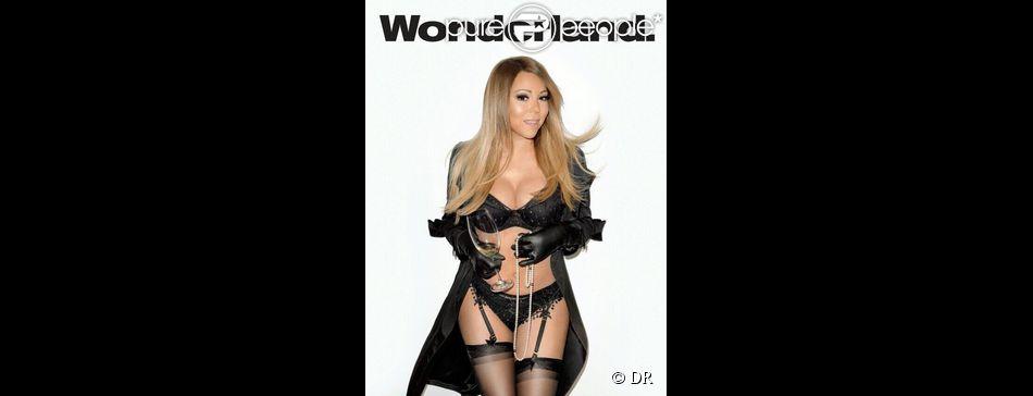 """Mariah Carey en couverture du magazine """"Wonderland"""", dans l'issue datée du 1er mai 2014."""