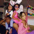 Lâpin coquin, Mariah Carey a passé les fêtes de Pâques en famille, le 20 avril 2014.