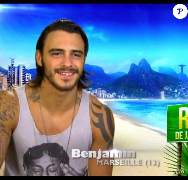 Benjamin fait son arrivée dans l'aventure (Les Marseillais à Rio - épisode diffusé le mercredi 30 avril 2014.)