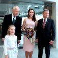 La princesse Mary de Danemark lors de la remise du Brain Prize 2014 le 1er mai 2014 à la bibliothèque royale de Copenhague.