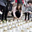 Mary de Danemark lançait le 3 mai 2014 la Journée du rein en allumant des cierges devant l'église Notre-Dame