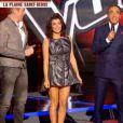 Jenifer très sexy dans une robe Peter Pilotto dans The Voice 3 le 5 avril 2014 sur TF1