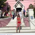 Elisa Sednaoui lors d'un mariage aux Bahamas, en avril 2014. Le 3 mai, le belle Franco-Italienne épousait à Londres son compagnon Alex Dellal, père de leur fils Jack.