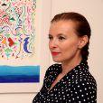 Exclusif - Valérie Trierweiler au vernissage de l'exposition de tableaux de Tahar Ben Jelloun à la galerie Tindouf à Marrakech le 26 avril 2014