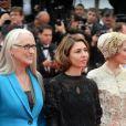 """Gael Garcia Bernal, la présidente Jane Campion, Sofia Coppola, - Montée des marches du film """"Grace de Monaco"""" pour l'ouverture du 67 ème Festival du film de Cannes le 14 mai 2014"""