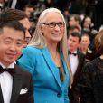 """La présidente du jury Jane Campion - Montée des marches du film """"Grace de Monaco"""" pour l'ouverture du 67 ème Festival du film de Cannes le 14 mai 2014"""