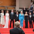 """Gael Garcia Bernal, Zhangke Jia, Sofia Coppola, Do-Yeon Jeon, la présidente Jane Campion, Carole Bouquet, Nicolas Winding Refn, Leila Hatami, Willem Dafoe - Montée des marches du film """"Grace de Monaco"""" pour l'ouverture du 67 ème Festival du film de Cannes le 14 mai 2014"""
