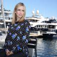 Exclusif - Léa Drucker, enceinte, pose sur la terrasse UniFrance lors du 67e Festival du Film de Cannes le 15 mai 2014.