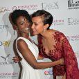 """Aïssa Maïga et Sonia Rolland lors de la 4ème édition du Gala """"PlaNet Finance"""" au Carlton lors du 67ème festival international du film de Cannes le 15 mai 2014"""