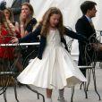 """Bluebell (fille de Geri Halliwell) lors du mariage de Poppy Delevingne et de James Cook en l'église de """"St Paul's"""" à Londres, le 16 mai 2014."""