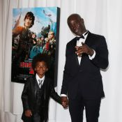 Djimon Hounsou, papa-poule avec son fils pour fêter DreamWorks face à Manu Payet