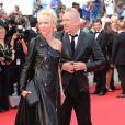 Tonie Marshall et Jean Paul Gaultier   lors de la montée des marches du film Saint Laurent et l'hommage au cinéma d'animation au Festival de Cannes le 17 mai 2014