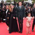 Lisa Azuelos, Julie Gayet, Mika, Valentina Pinault et François-Henri Pinault   lors de la montée des marches du film Saint Laurent et l'hommage au cinéma d'animation au Festival de Cannes le 17 mai 2014