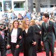 Lisa Azuelos, Julie Gayet et Mika   lors de la montée des marches du film Saint Laurent et l'hommage au cinéma d'animation au Festival de Cannes le 17 mai 2014