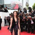 Frédérique Bel   lors de la montée des marches du film Saint Laurent et l'hommage au cinéma d'animation au Festival de Cannes le 17 mai 2014