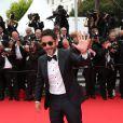 Manu Payet   lors de la montée des marches du film Saint Laurent et l'hommage au cinéma d'animation au Festival de Cannes le 17 mai 2014