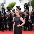 Natacha Régnier   lors de la montée des marches du film Saint Laurent et l'hommage au cinéma d'animation au Festival de Cannes le 17 mai 2014