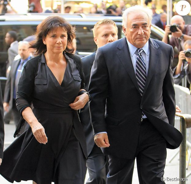 Dominique Strauss-Kahn et Anne Sinclair à New York le 23 août 2011