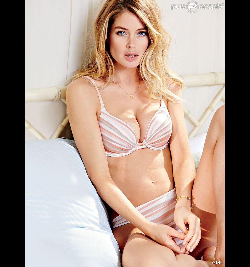 Doutzen Kroes, craquante en lingerie pour Victoria's Secret.