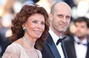 Cannes 2014 : Sophia Loren, 79 ans, brille de mille feux au bras de son fils
