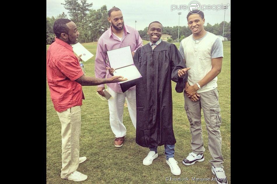 Marquise Jackson, le fils de 50 Cent (de son vrai nom Curtis Jackson), lors de sa remise de diplôme.