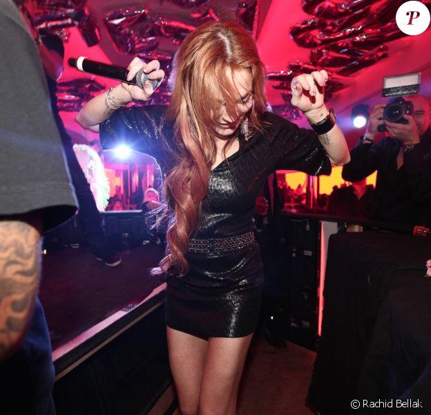 Lindsay Lohan s'éclate au VIP Room. Cannes, le 21 mai 2014.