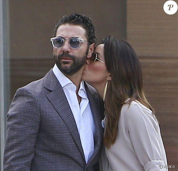 Eva Longoria et José Antonio Bastos à la sortie d'une boutique Barbara Bui à Beverly Hills, le 22 mai 2014.