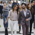 Eva Longoria et José Antonio Bastos à la sortie d'une boutique Barbara Bui à Beverly Hills, Los Angeles, le 22 mai 2014.
