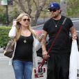 Tiffany Thornton et Chris Carney, à Los Angeles, le 12 avril 2012.