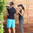 Eva Longoria fait du jogging avec son petit ami Jose Antonio Baston à Los Angeles, le 23 mai 2014