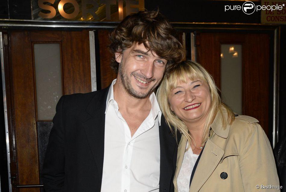 Christine Bravo et Reynald - Backstage - Jean-Marie Bigard fête ses 60 ans au Grand Rex à Paris le 23 mai 2014.