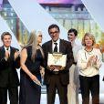 """Carole Bouquet, Willem Dafoe, Jane Campion et Nuri Bilge Ceylan (Palme d'Or pour """"Winter Sleep""""), Paz Vega, Nicole Garcia et Quentin Tarantino - Cérémonie de clôture du 67e Festival du film de Cannes le 24 mai 2014."""