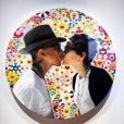 Photo de Pharrell Williams et Helen Lasishanh exposée pour G I R L, dans la Salle de Bal de la Galerie Perrotin, Paris 3e.