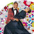 Photo du mariage de Pharrell Williams et Helen Lasichanh exposée pour G I R L, dans la Salle de Bal de la Galerie Perrotin, Paris 3e.