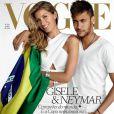 Gisele Bündchen et le footballeur Neymar, photographiés par Mario Testino pour le numéro de juin 2014 de Vogue Brasil.