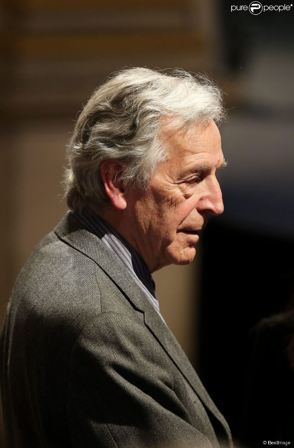 Constantin Costa-Gavras à Paris le 16 avril 2014.