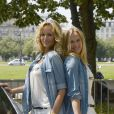 Natalia Sklenarikova (soeur d' Adriana) et la sublime Adriana Karembeu - 15 ème Rallye des Princesses à Paris - Journée des vérifications des voitures, Esplanade des Invalides. Paris, le 31 mai 2014
