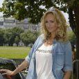Adriana Karembeu - 15 ème Rallye des Princesses à Paris - Journée des vérifications des voitures, Esplanade des Invalides. Paris, le 31 mai 2014