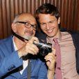 Arthur Elgort et son fils Ansel Elgort lors de l'after party de Nos étoiles contraires (The Fault in Our Stars) à New York, le 2 juin 2014.