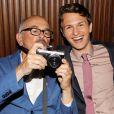 Arthur Elgort et Ansel Elgort lors de l'after party de Nos étoiles contraires (The Fault in Our Stars) à New York, le 2 juin 2014.