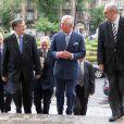 Le prince Charles à l'Université de Bucarest, en Roumanie le 31 mai 2014, où il a été fait docteur honoris causa.