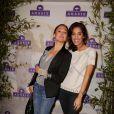 Sandrine Quétier et Laurie Cholewa assistent à la soirée organisée par la marque de produits capillaires Aussie à Paris, le mercredi 4 juin 2014.