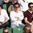 Jean Dujardin, Yvan Attal et Tahar Rahim - People à la finale homme des Internationaux de France de tennis de Roland Garros à Paris le 8 juin 2014.  Celebs attend the men's singles final match against Novak Djokovic of Serbia. Serbia's Novak Djokovic vs Spain's Rafael Nadal in the Men Final of the French Tennis Open 2014 in Roland-Garros Stadium, Paris, France on June 8th, 2014.08/06/2014 - Paris