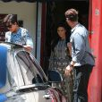 Kim Kardashian va déjeuner au restaurant avec sa mère Kris Jenner à West Hollywood, le 3 juin 2014.