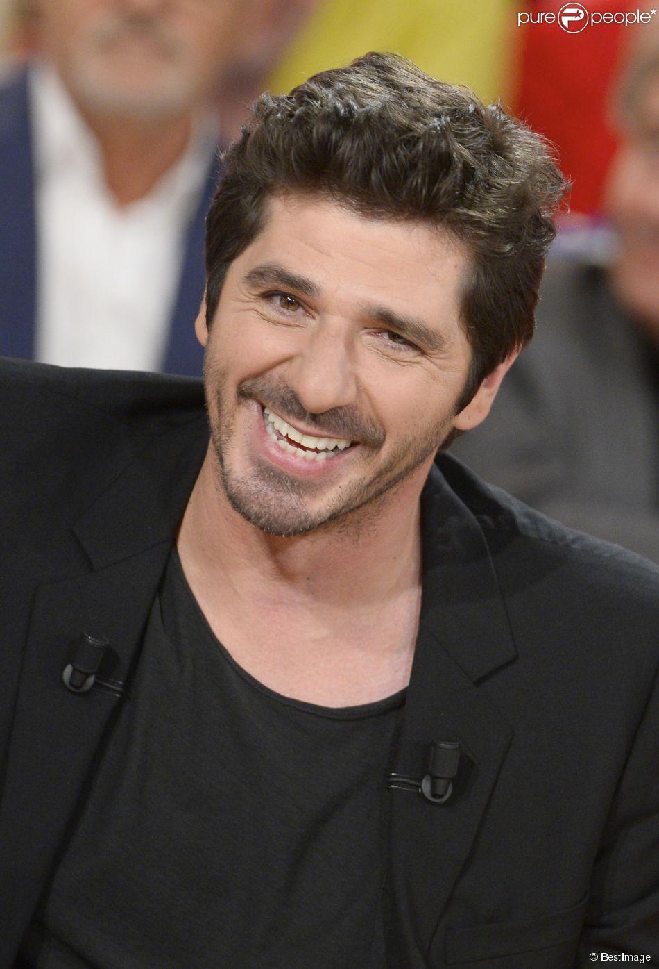 """Patrick Fiori - Enregistrement de l'émission """"Vivement Dimanche"""", le 7 mai 2014."""