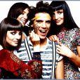 Mika, entouré de ses soeurs Yasmine, Paloma et Zuleika.