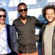 """Exclusif - Julien Boisselier, Thomas N'Gijol et Yazid Ait Hamoudi lors de l'avant-première du film """"Fastlife"""" au cinéma Gaumont Marignan dans le cadre du 3e Champs-Elysées Film Festival à Paris, le 11 juin 2014."""