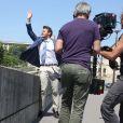 """Exclusif - Scott Clifton - Tournage de la série """"Amour, Gloire et beauté"""" pour fêter les 25 ans de diffusion sur France 2 à Paris le 12 juin 2014."""