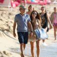 Marc Anthony et Chloe Green en vacances à la Barbade, le 1er janvier 2014.